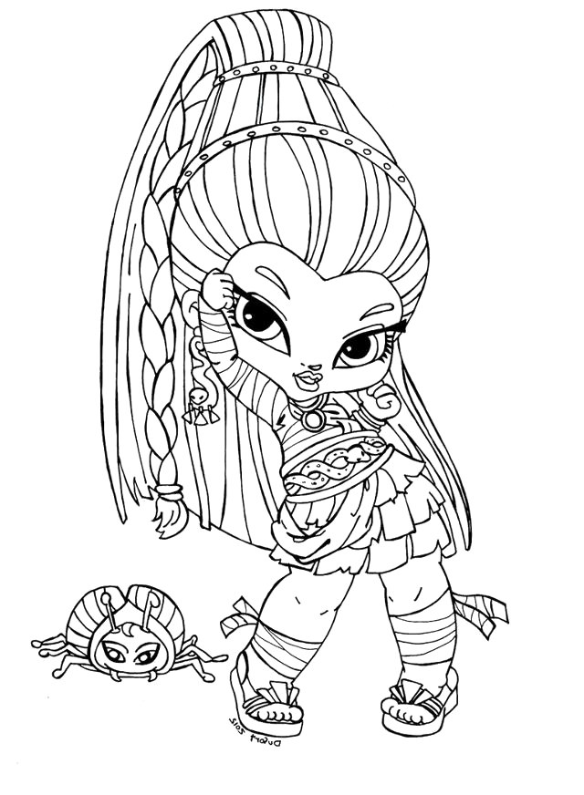 monster high info az coloring pages