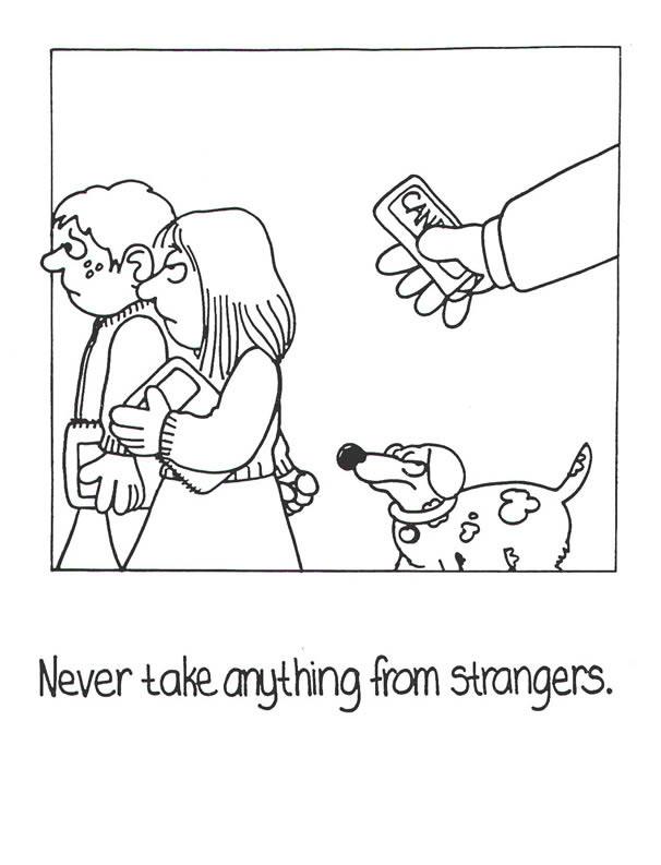 stranger danger coloring pages printables - photo#6