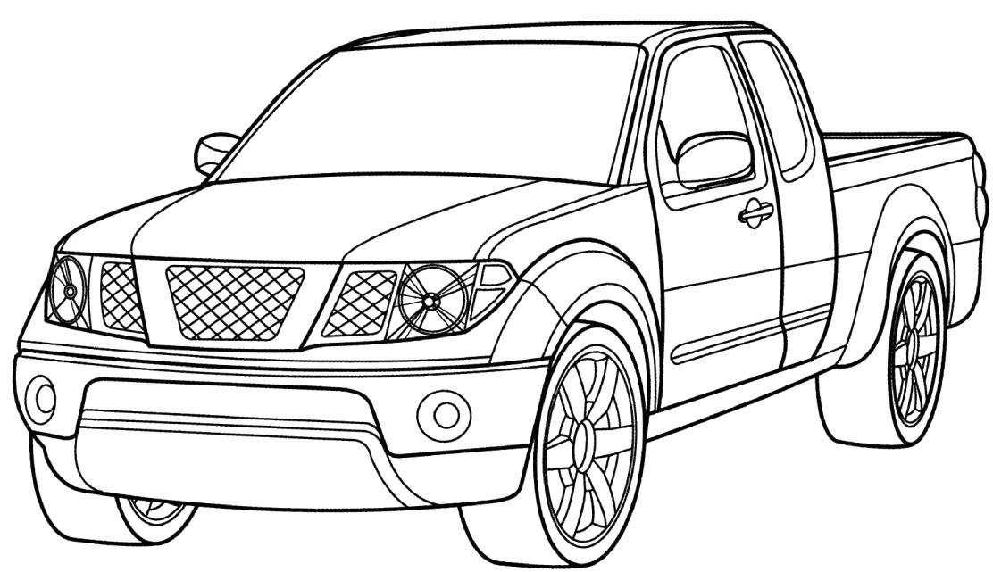 car and truck coloring pages - photo#1