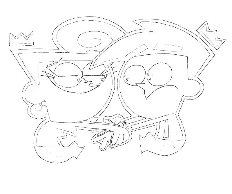 fairly oddparents printable coloring pages - photo#32