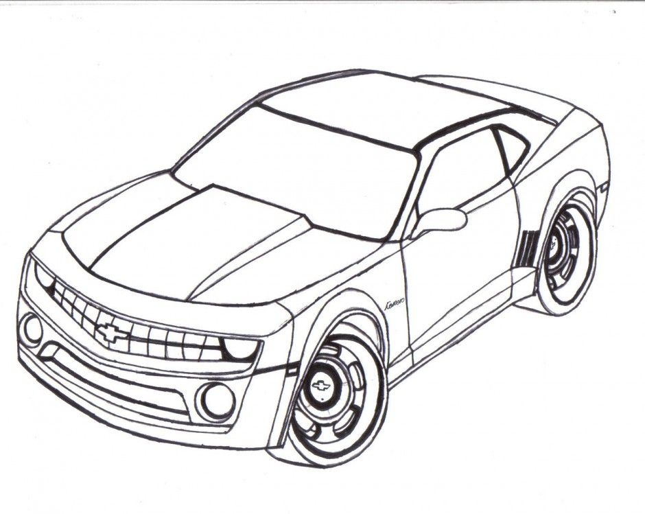Camaro Coloring Pages For Kids Coloring Home
