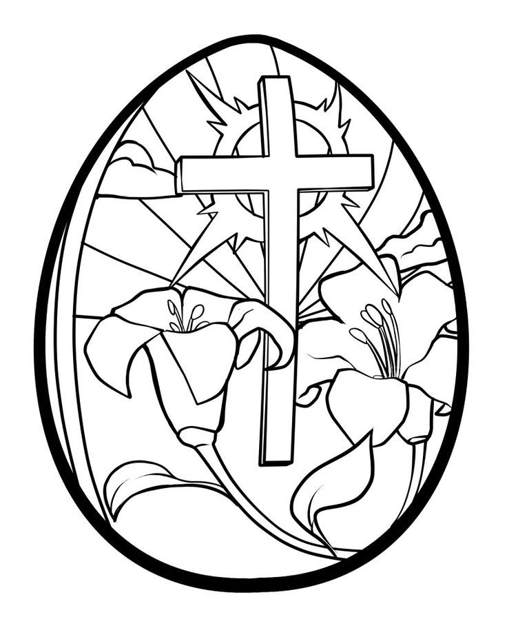 Easter cross coloring pages coloring home for Coloring pages of cross