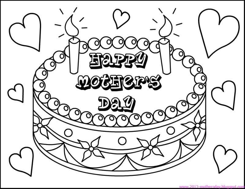 mom birthday coloring pages - photo#31