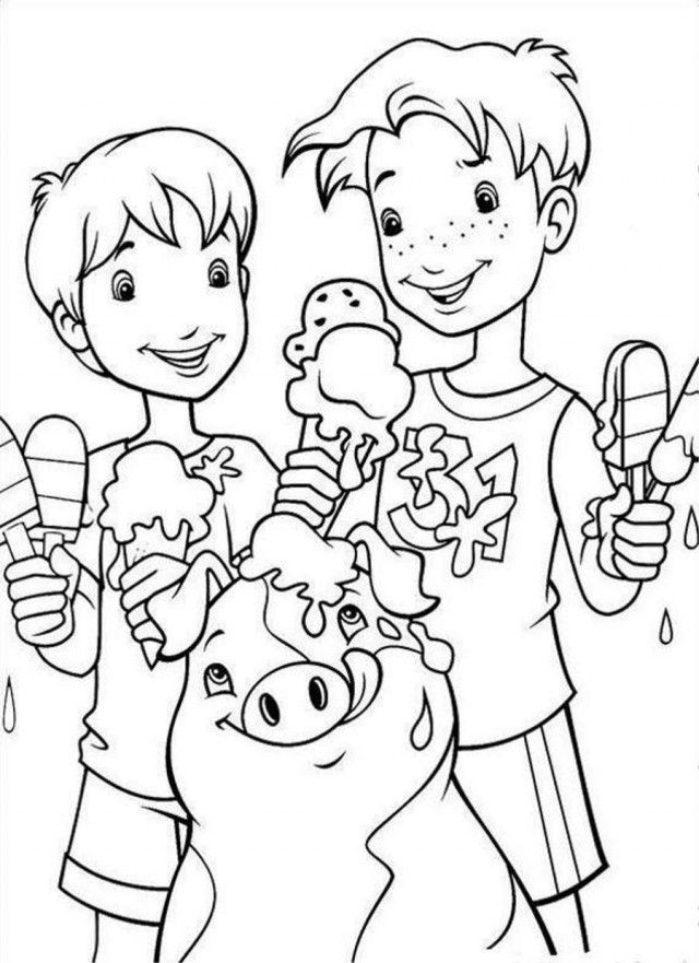 Holly Hobbie Having Ice Cream Coloring Page Coloringplus 192151