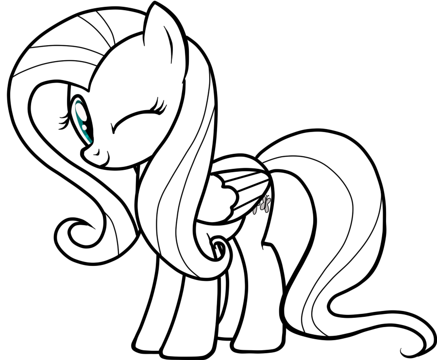 My Little Pony Fluttershy Coloring Pages Coloring Home Fluttershy Coloring Page