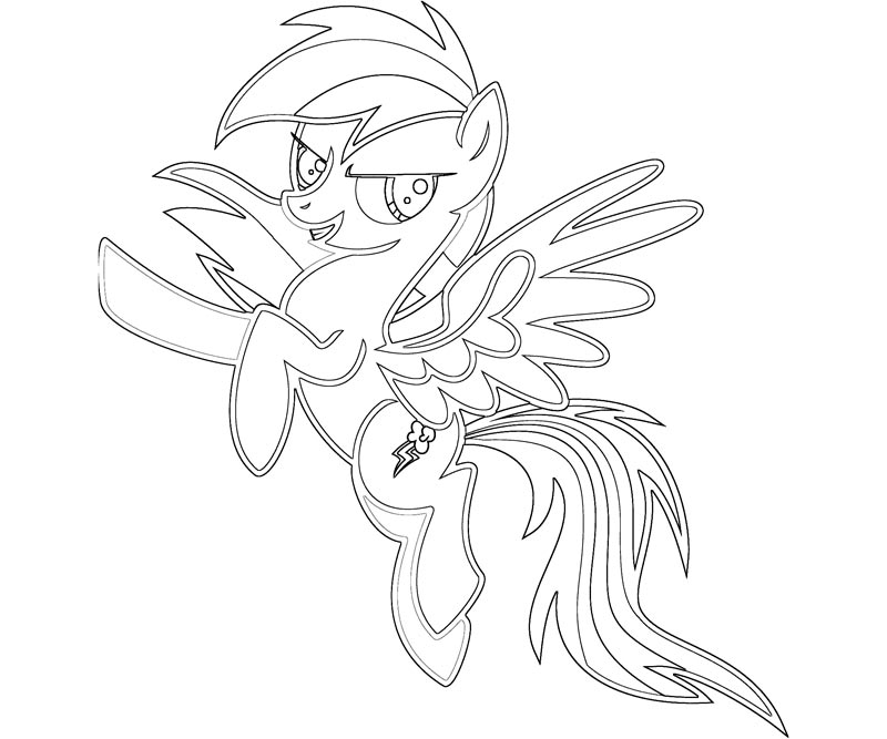 Little Pony Coloring Pages Rainbow Dash One Free Printable