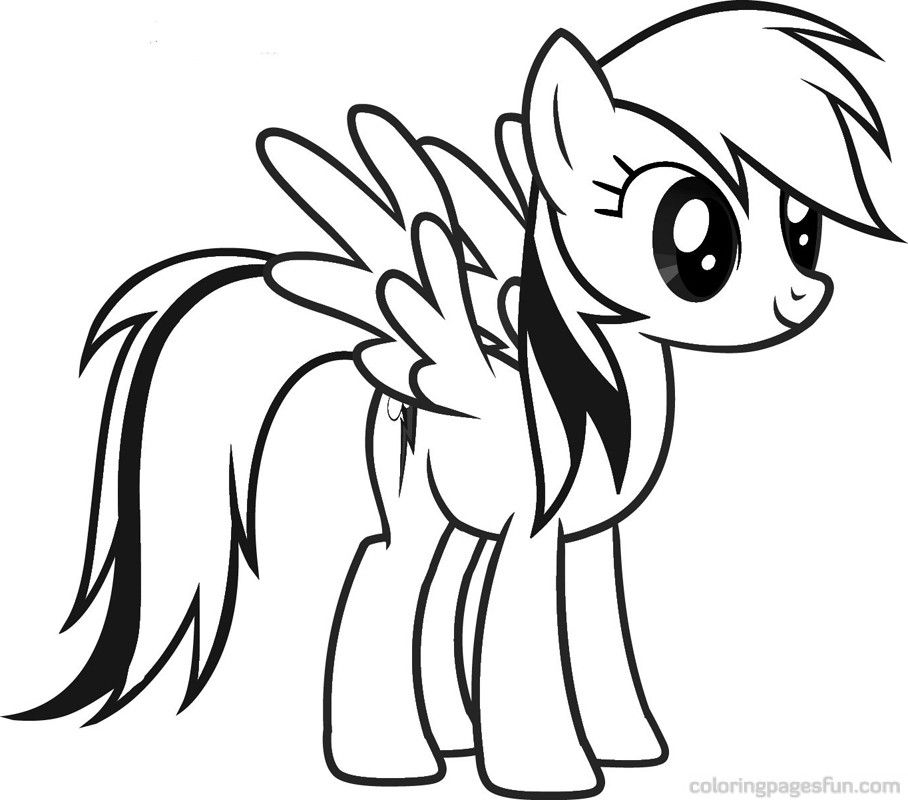 Rainbow pictures free coloring home for Rainbow dash printable coloring pages