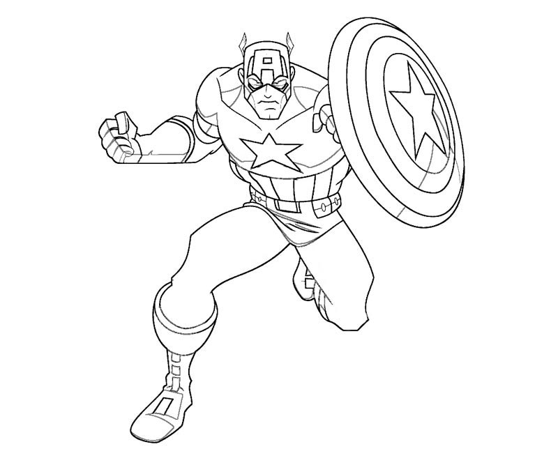 Avengers Captain America Coloring Pages - Coloring Home
