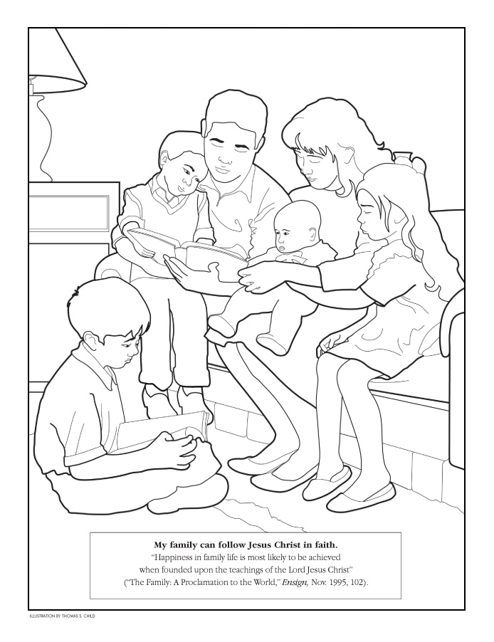 Family Praying Coloring Page - Hot Girls Wallpaper