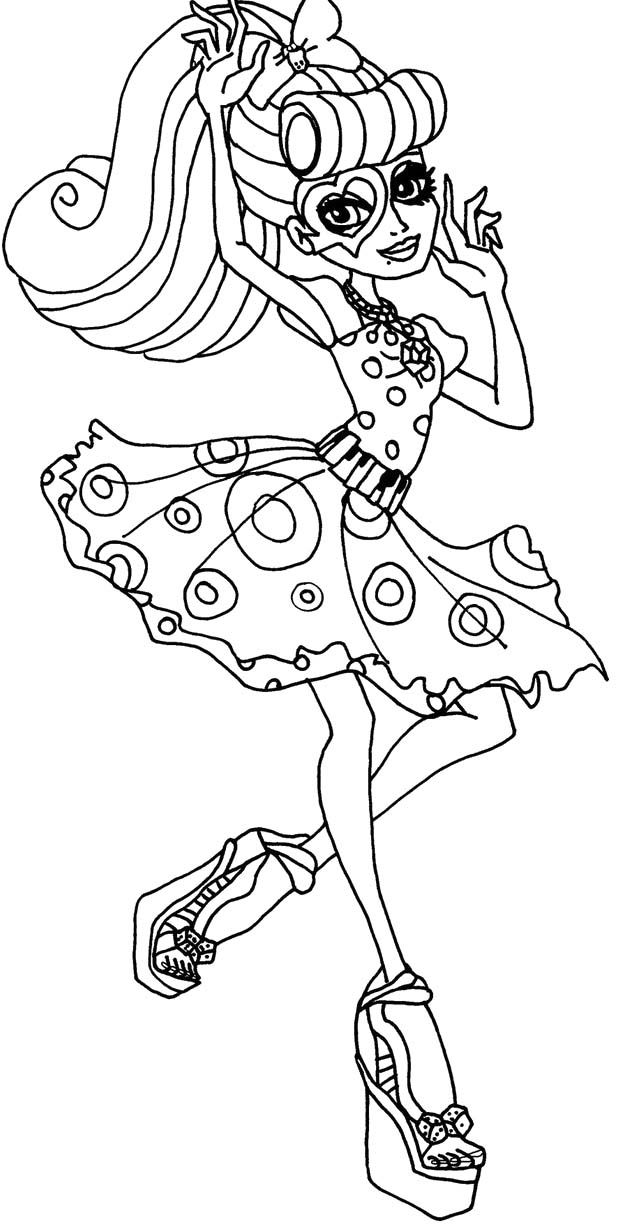 Monster high pictures to print and color coloring home for Operetta monster high coloring pages