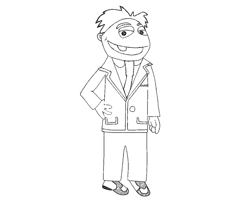 6 The Muppets Coloring Page