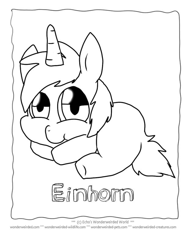 Unicorn Cartoon Coloring Pages Echos Free Unicorn Coloring