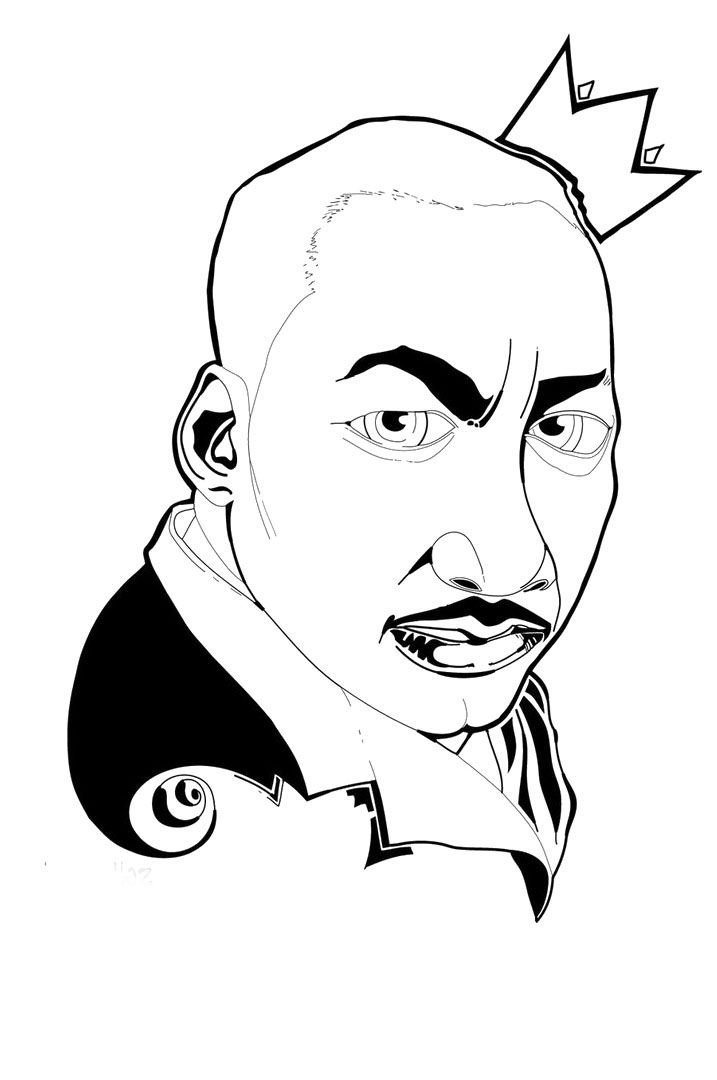 martin luther king color pages az coloring pages