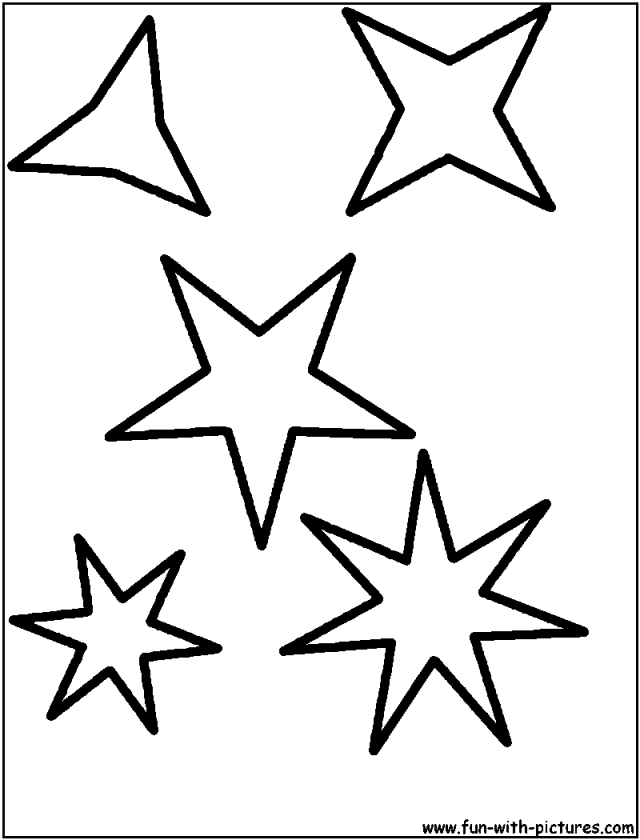Free Printable Star Shapes Drawing And Coloring For Kids 206945
