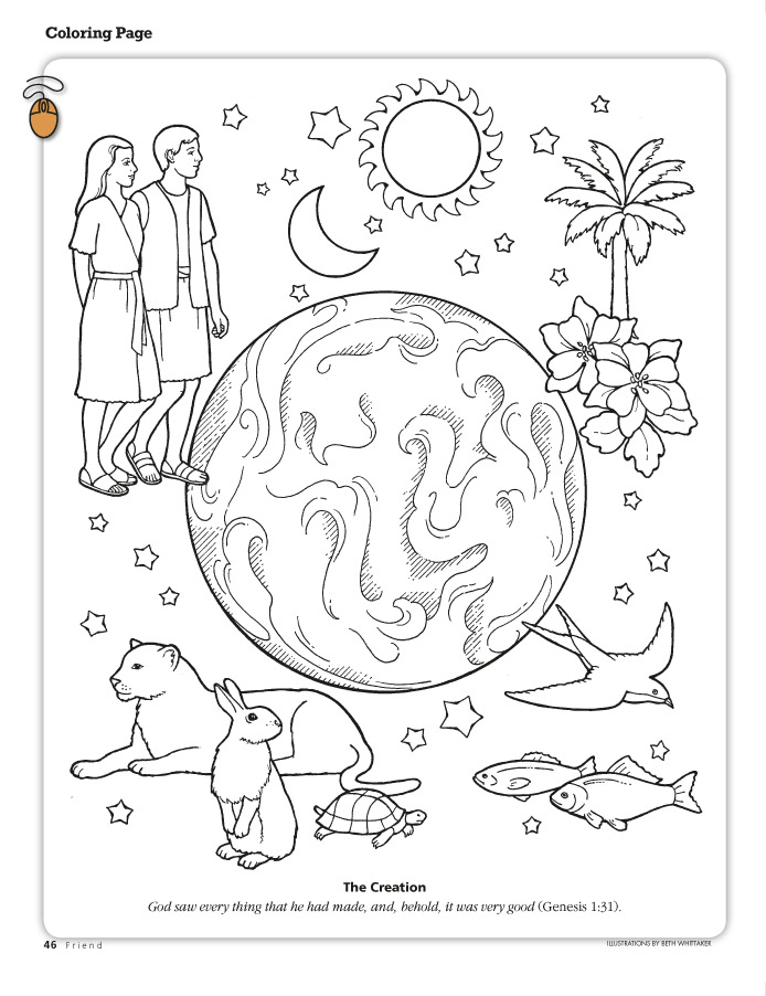 god made coloring pages - photo#17