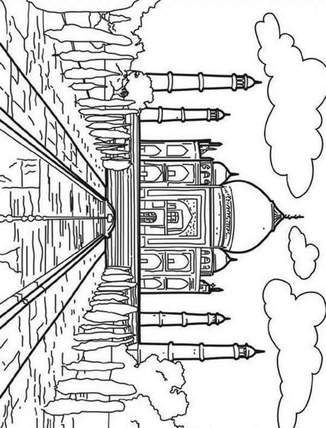 india map coloring page - india map for kids coloring home