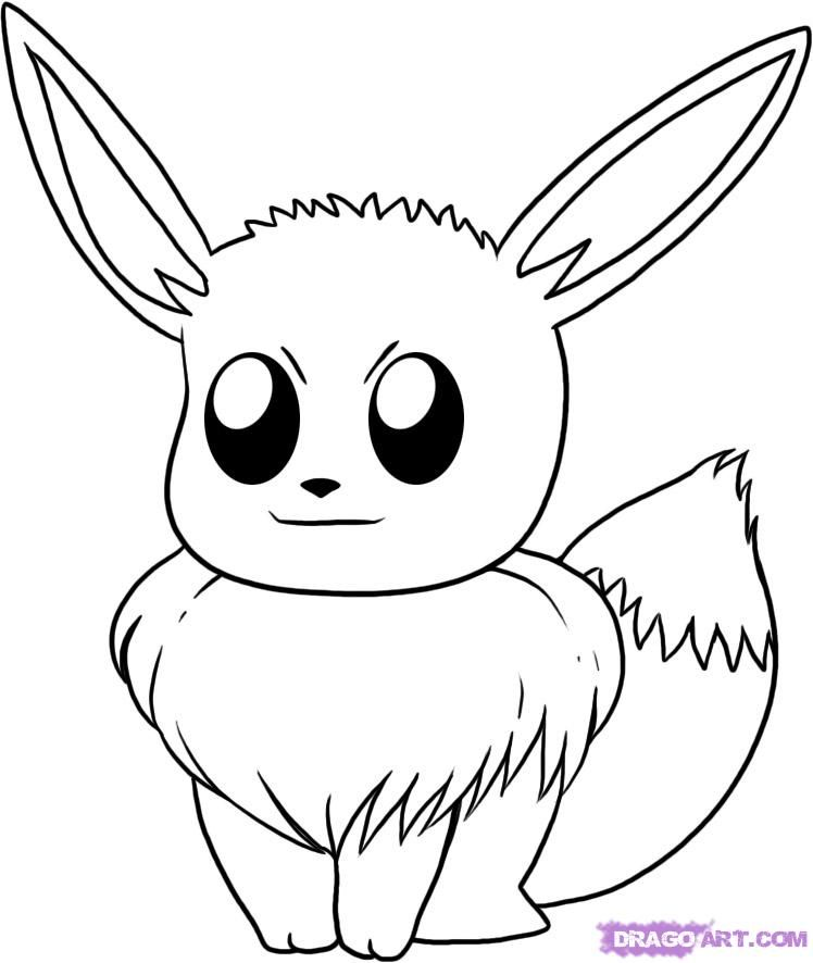 How to Draw Eevee, Step by Step, Pokemon Characters, Anime, Draw