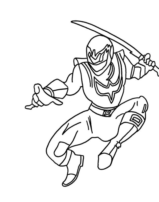 Power Rangers Were Running Coloring Page For Kids - Power Rangers