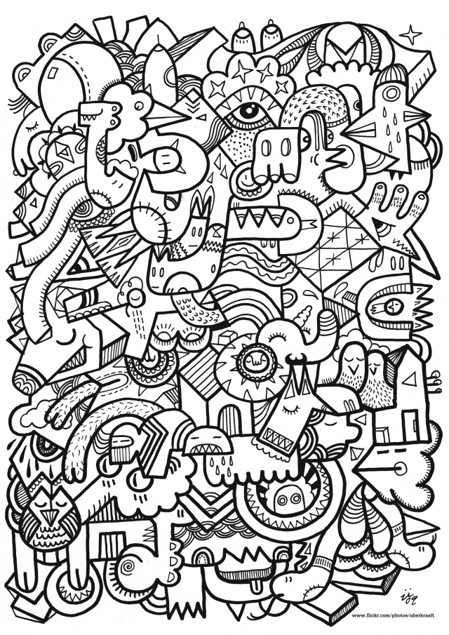 hard coloring pages for free - photo#13