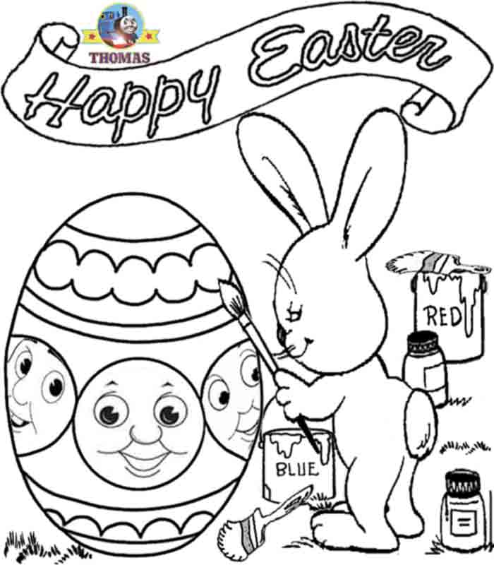 Transmissionpress Happy Easter Of Bunny Coloring Pages