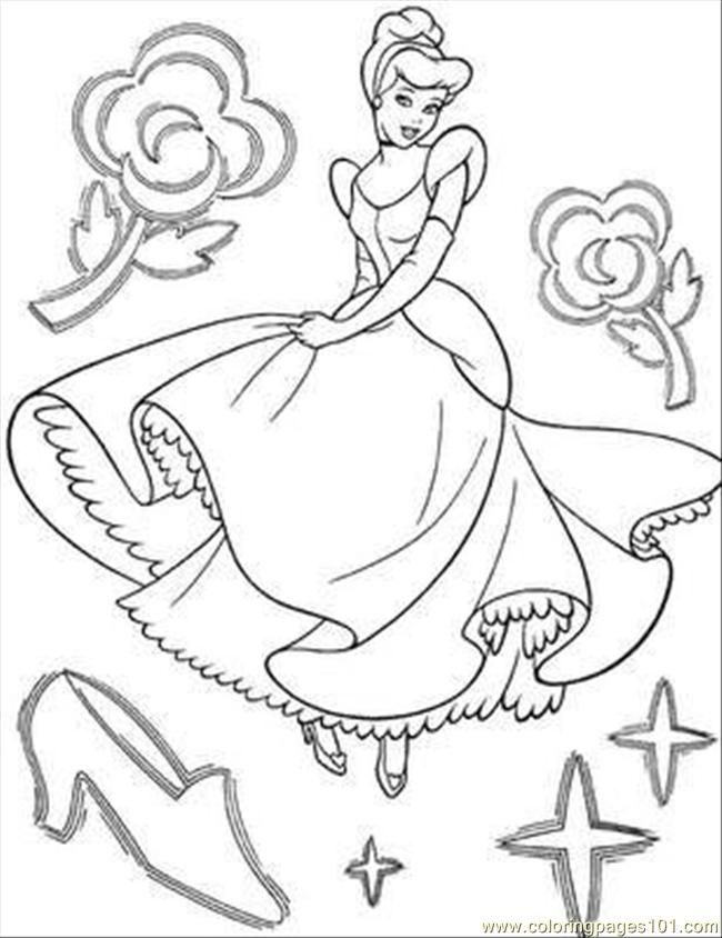 Coloring Pages Cinderella Page 14 Cartoons