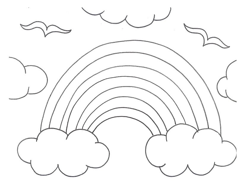 rainbows coloring pages - photo#30