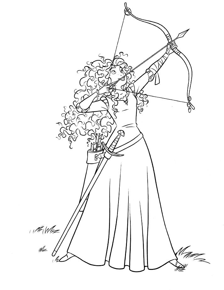 coloring pages archery pictures - photo#30