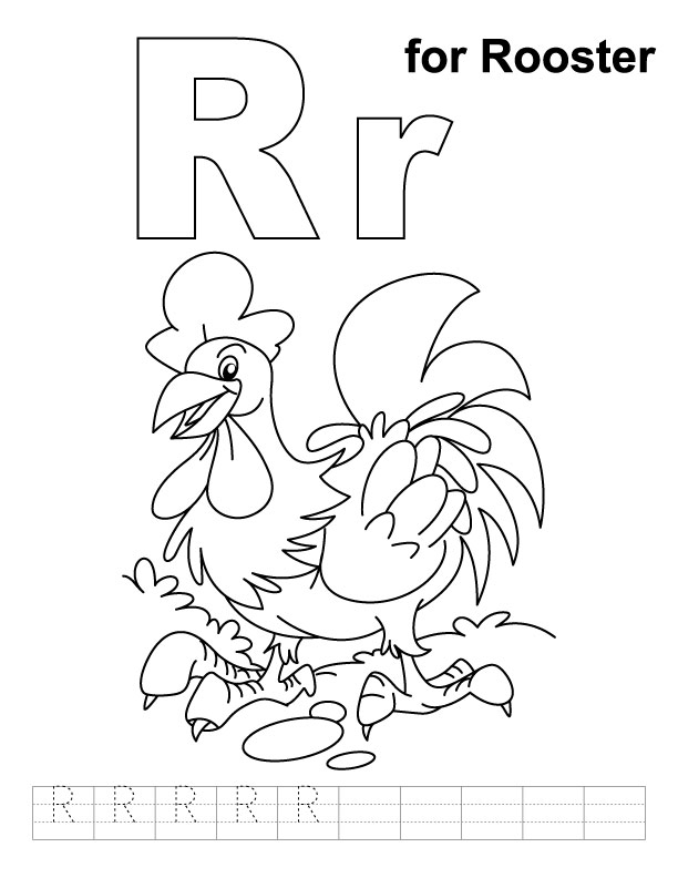 R Is For Ring Coloring Pages Letter R Coloring Page...