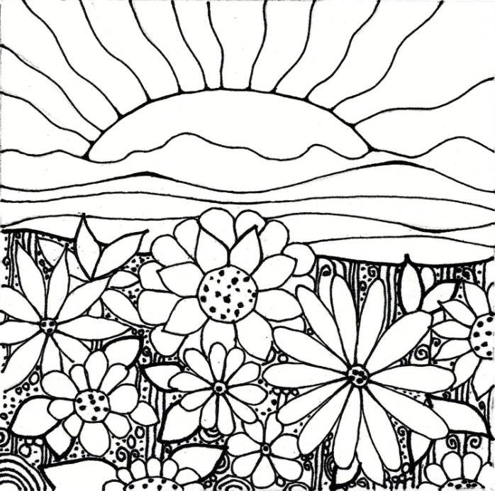 children planting flowers coloring pages - photo#30