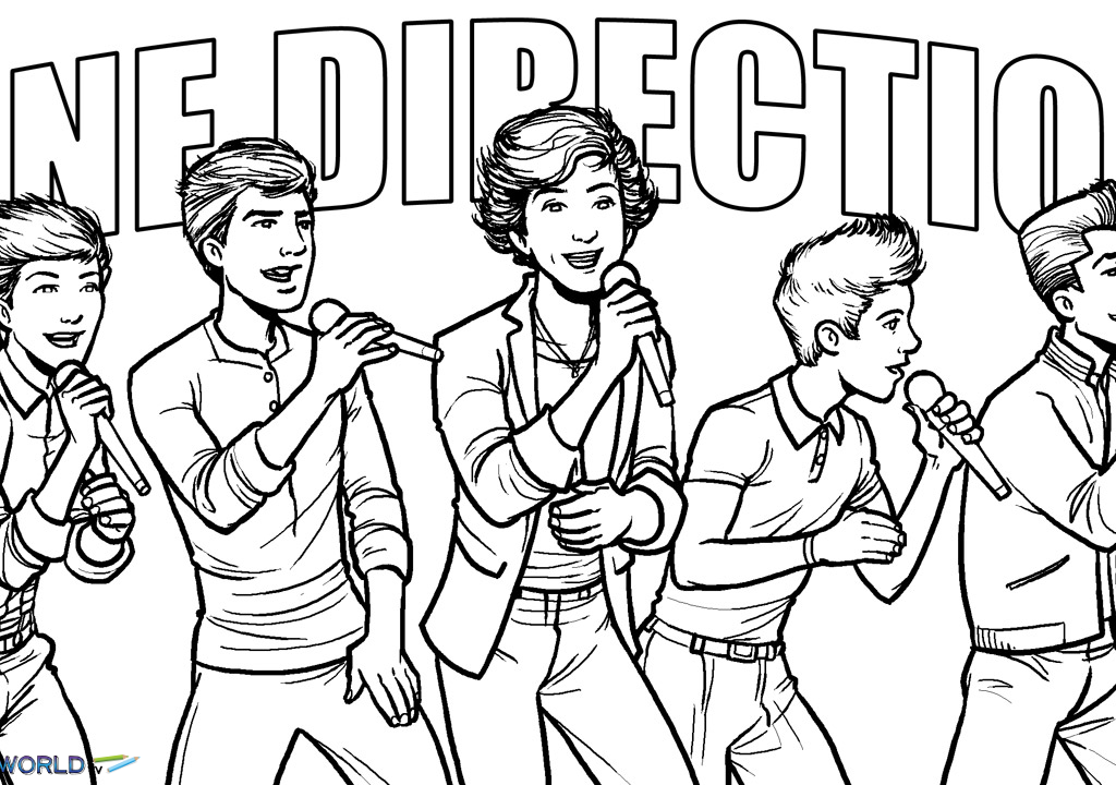 One Direction One Thing Colouring Pages Coloring Home
