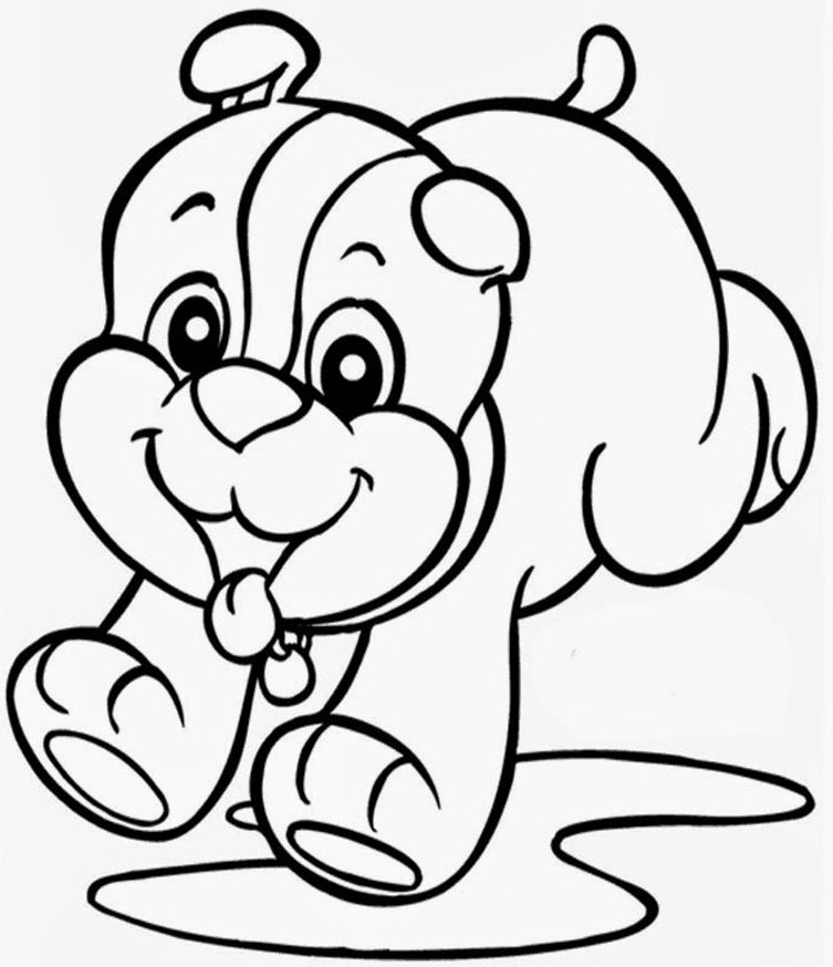 Christmas Puppy Coloring Pages To Print High Res | ViolasGallery.com