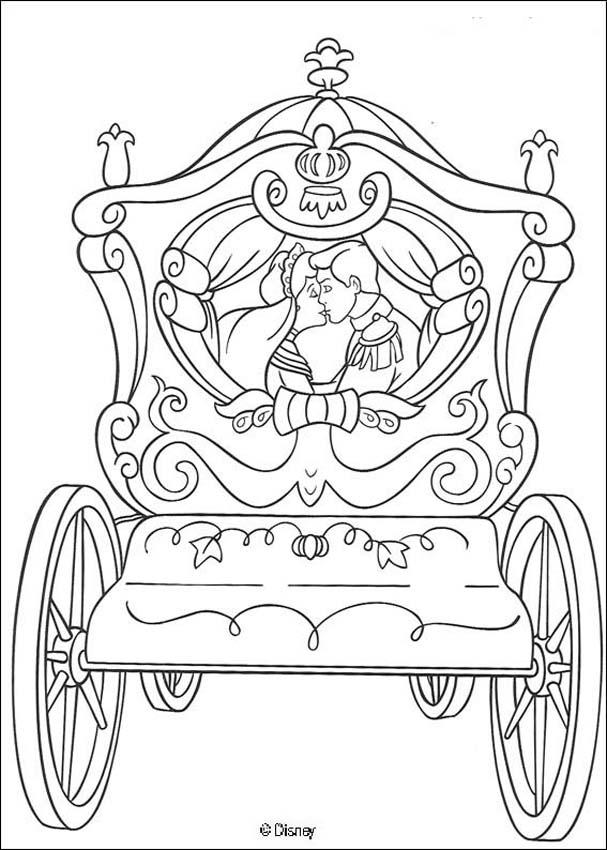 cinderella coloring book pages prince kiss