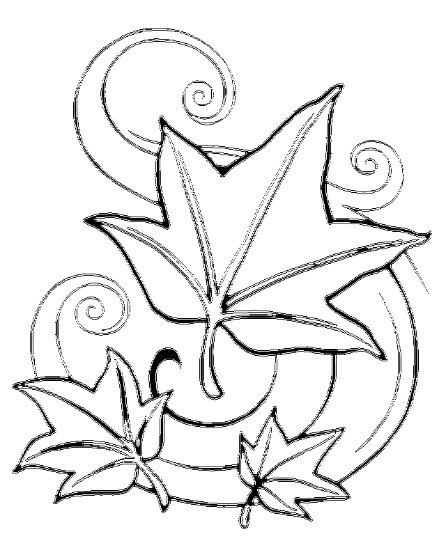 Printable Leaf Coloring Pages - Coloring Home