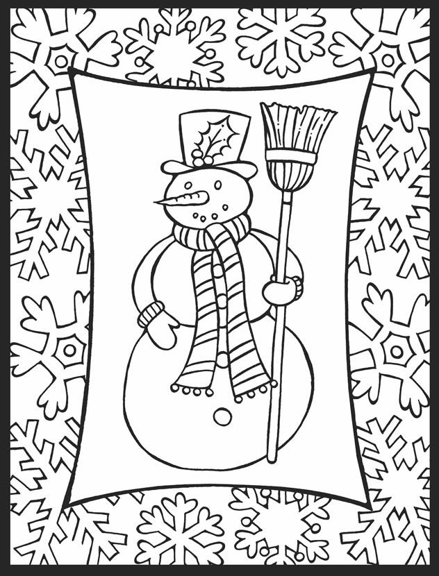 A Crowe's Gathering: Here is a New Holiday Free Coloring Page for