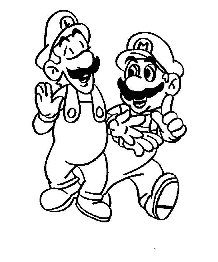nintendo coloring pages free - photo #22