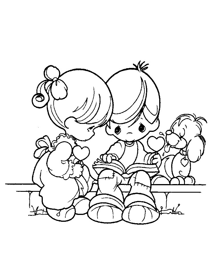 precious moments valentine coloring pages - photo#14