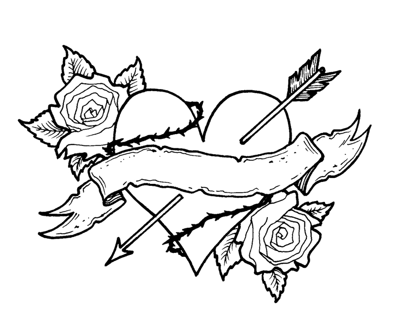 Heart And Rose Love Drawings Search Results   Cool Drawings