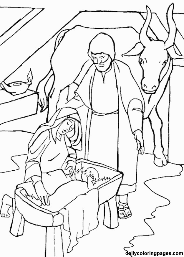 coloring pages of nativity scene - photo#36