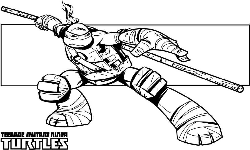 girl ninja turtles coloring pages - photo#32