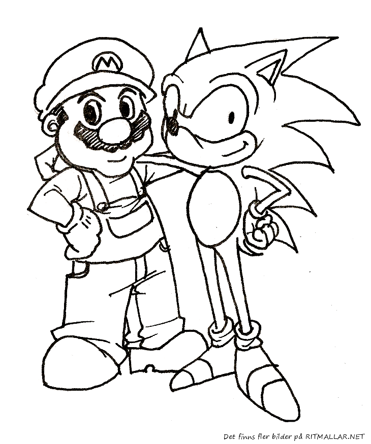 Mario And Sonic Pictures - Coloring Home