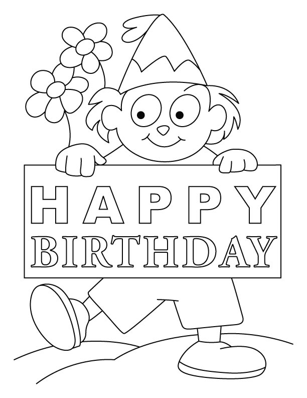 Birthday card coloring pages az coloring pages for Happy birthday coloring pages for kids