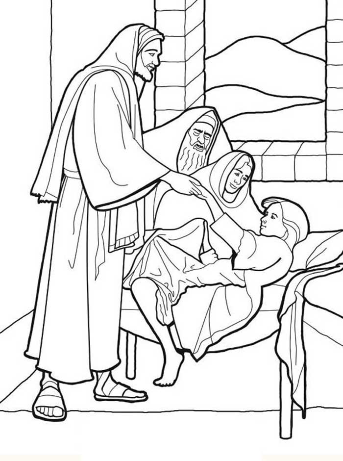 people following jesus coloring pages - photo#11