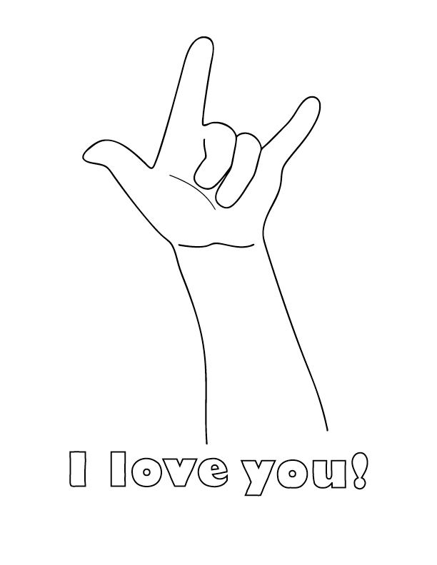 Coloring Pages I Love You : I love you color pages az coloring