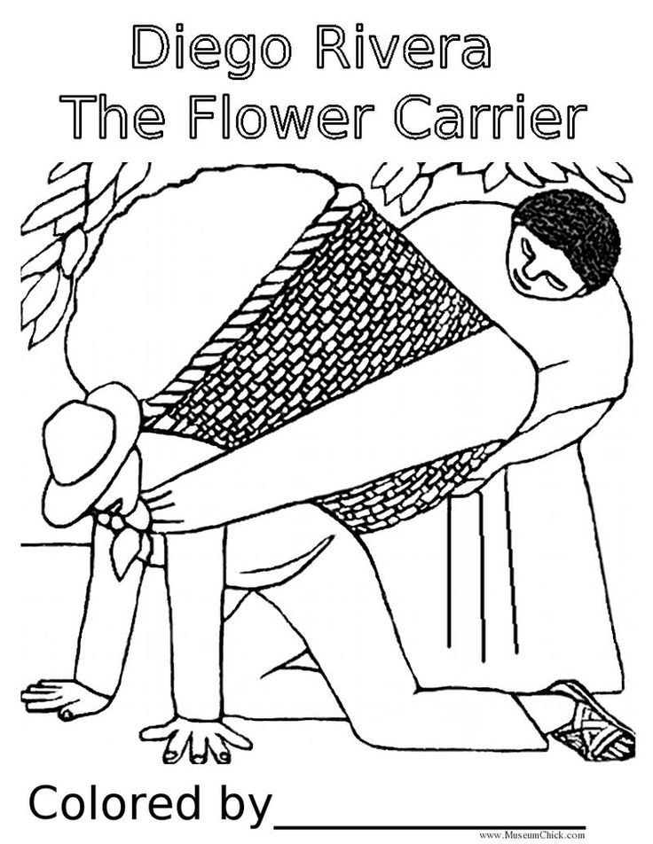 Diego Rivera The Flower Carrier | art print outs