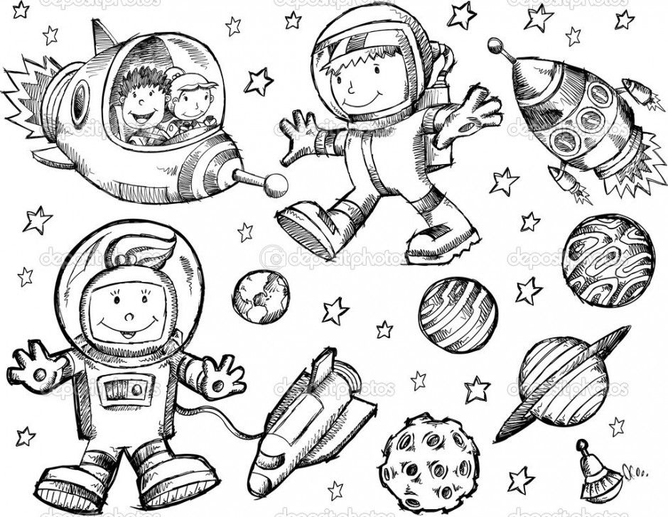 Outer Space Coloring Page 17743 Mayan Coloring Pages