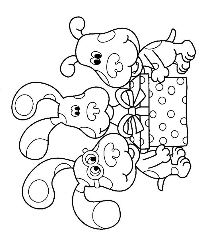 Nick Jr Coloring Pages Pdf : Blues clues birthday color page party ideas