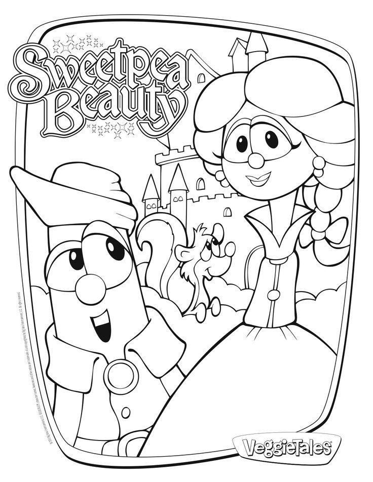 Veggie tales coloring pages coloring home for Free veggie tales coloring pages