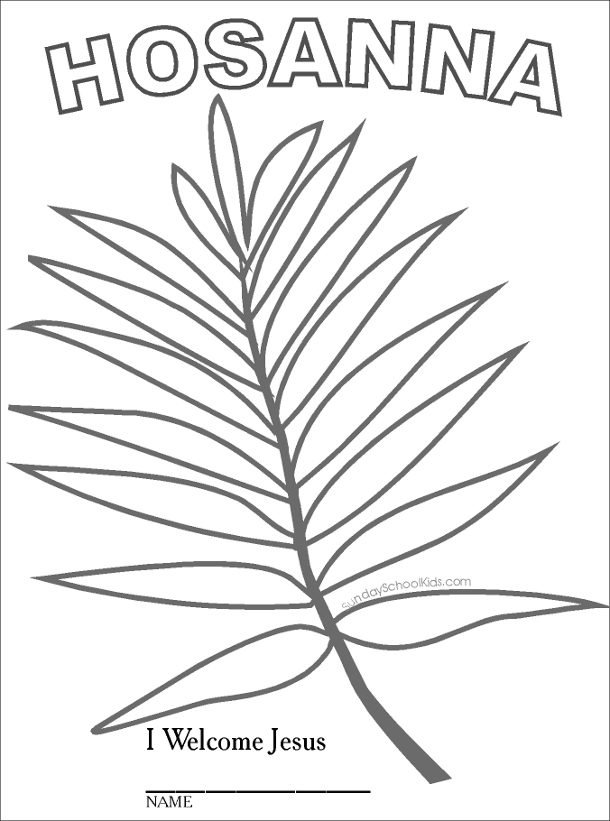 Coloring Pages For Palm Sunday