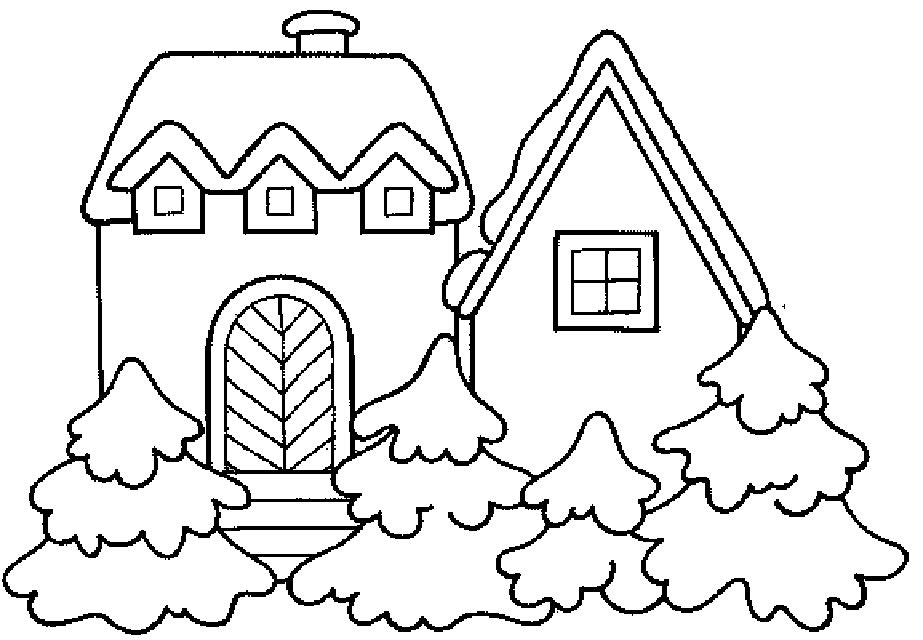 pertzborn gingerbread house coloring pages - photo#22