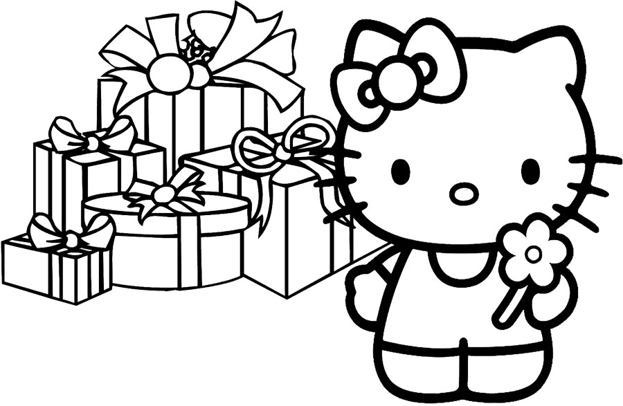 Hello Kitty Merry Christmas Coloring Pages : Merry christmas color pages az coloring
